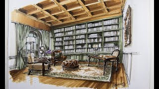 Interior Design Sketching/library