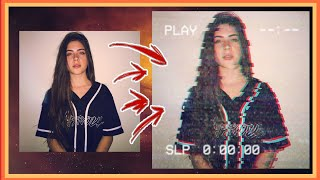 EFEITO GLITCH VHS VINTAGE NO PICSART | Edição Tumblr #1