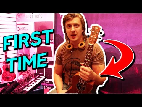 Guitar Player Tries To Play Ukulele for the First Time Ever