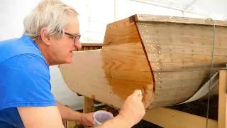 Repairing a Giesler Cedar Strip Boat, Installing the new transom Part 4
