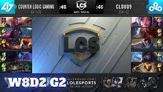 CLG vs Cloud 9 | Week 8 Day 2 S10 LCS Spring 2020 | CLG vs C9 W8D2