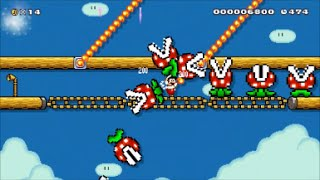 【Super Mario Maker】クリア率0%(0/3064)ファイアマリオ専用鬼畜コースに挑戦【マリオメーカー】