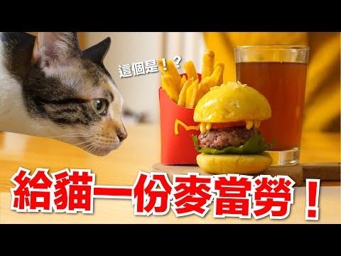 """好味小姐,做一份貓專屬""""麥當勞""""薯條、漢堡"""