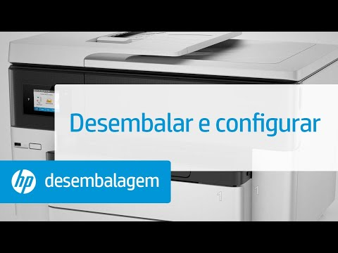 Como desembalar e configurar a impressora HP OfficeJet Pro 7740