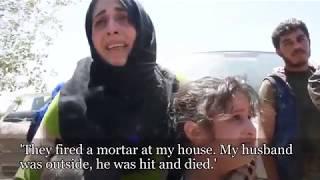 Syrische Frauen verbrennen Burkas, Männer rasieren Bärte ab, während Raqqa das Ende von ISIS feiert