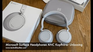 Microsoft Surface Headphones ANC Kopfhörer Unboxing