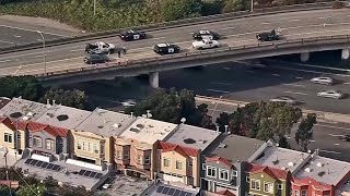 Raw Video: Aerial of Police Activity at Alemany Blvd and I-280 in S.F.