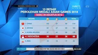 Klasemen Sementara Perolehan Medali Asian Games 30 AGustus 2018