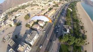 preview picture of video 'Khorfakkan City Paramotor  خورفكان'