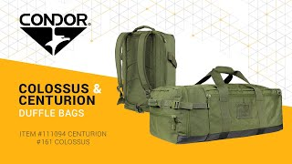 Condor Centurion And Colossus Duffle Bags