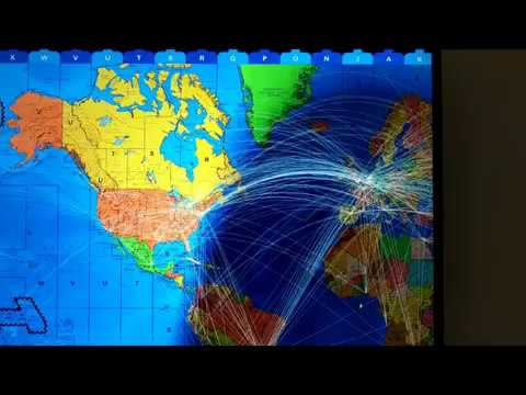 Shipping and Aircraft route layers