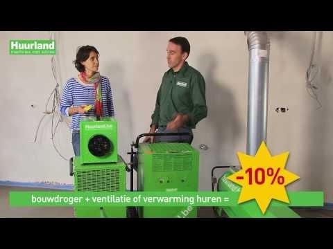 Woning drogen met bouwdroger, ventilator en verwarming | Huurland