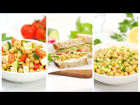 5 Minute Lunch Ideas | Easy & Delicious Chickpea Recipes