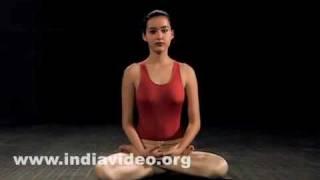Lotus pose in yoga