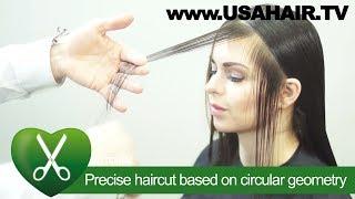 Precise haircut based on circular geometry. parikmaxer TV USA