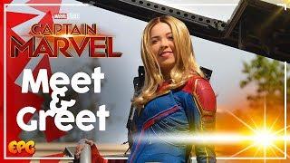 Captain Marvel Meet and Greet at Disneyland and Food Tasting!