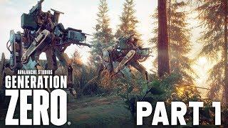 GENERATION ZERO Early Beta Gameplay Walkthrough Part 1 - NEW CO-OP GAME