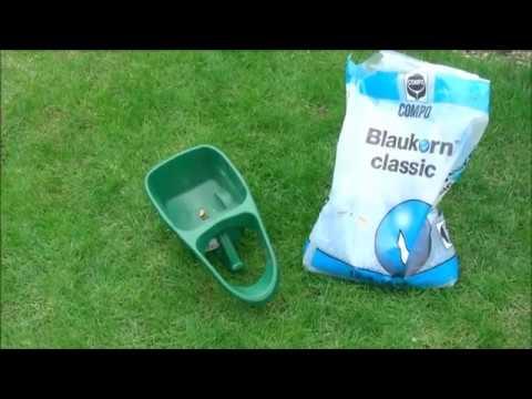 Rasen düngen mit Blaukorn