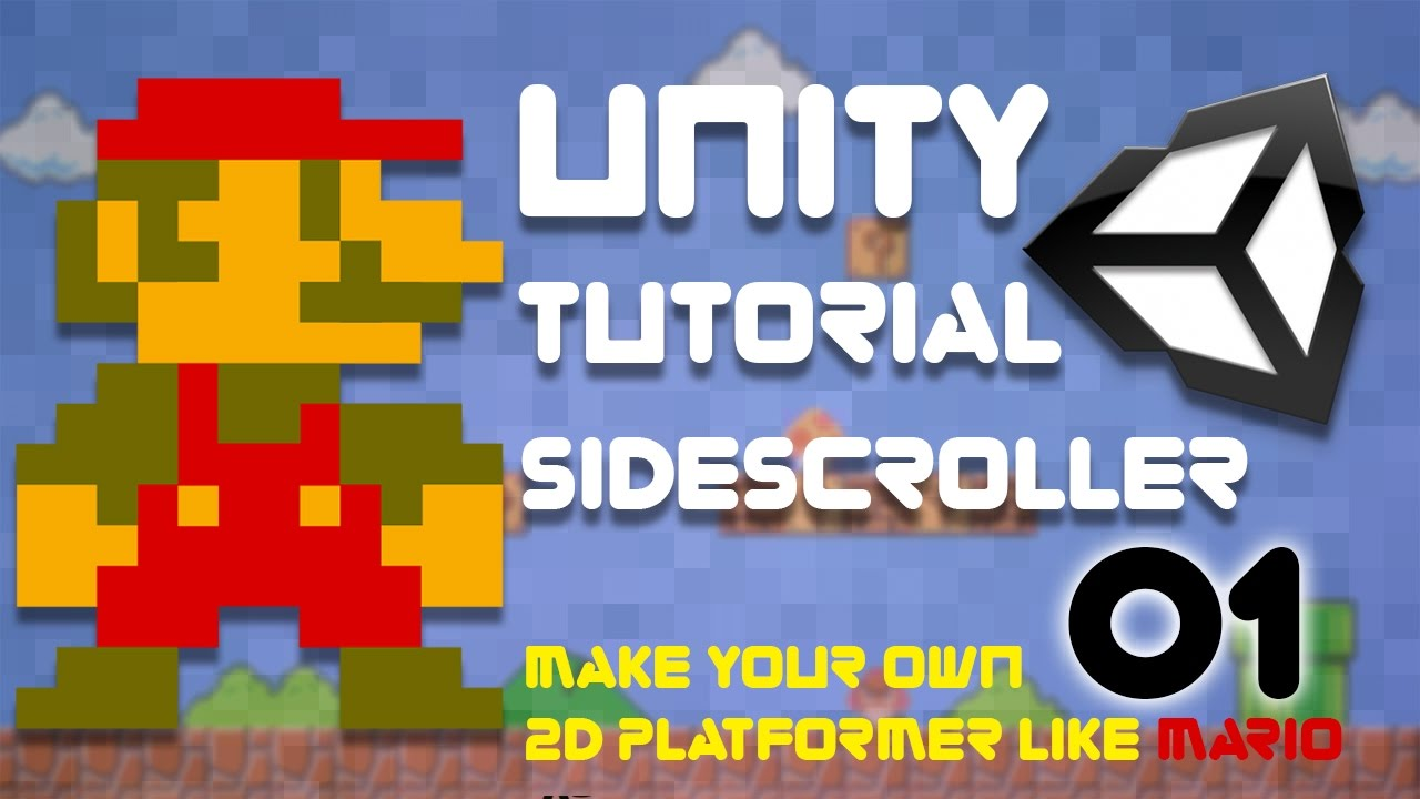 Unity Tutorial -  2D Side Scroller (Super Platformer Bros) Episode 1 - Project Set Up