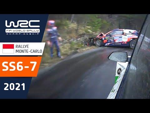 WRC 2021 トヨタのエバンスがトップ 開幕戦のラリーモンテカルロ SS6-7ハイライト動画
