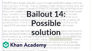Bailout 14: Possible Solution