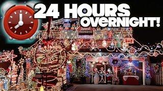 Harassed! 24 Hour Overnight Challenge At Strangers CHRISTMAS HOUSE Fort   OmarGoshTV