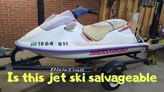 Free salvage 1994 sea-doo spi jet ski locked motor inspection. ep.437