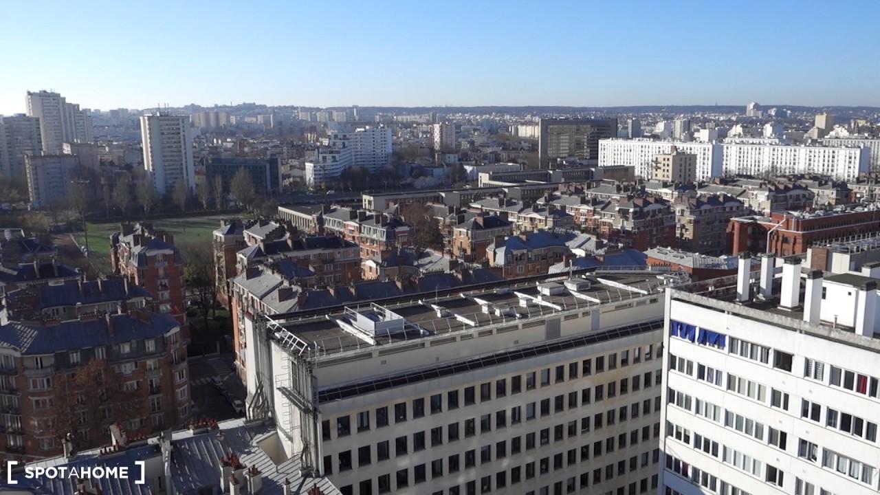 Chambres à louer dans un appartement de 3 chambres avec terrasse et vue imprenable dans le 14ème arrondissement