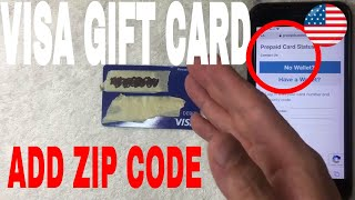 ✅  How To Register Zip Code On Visa Gift Card 🔴