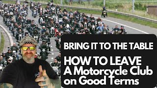 How to leave a motorcycle club on good terms