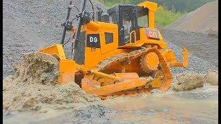 RC CONSTRUCTION EQUIPMENT AT WORK FANTASTIC ADVENTURE TRUCKS IN