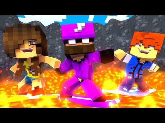 Minecraft daycare - VOLCANO SURFING !?