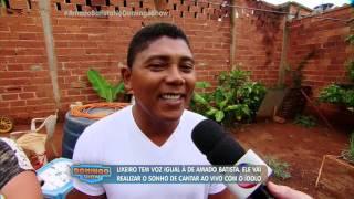 Lixeiro emociona ao cantar com voz igual à de Amado Batista