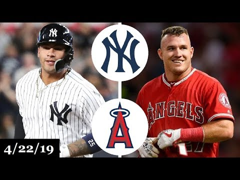New York Yankees vs Los Angeles Angels Highlights   April 22, 2019