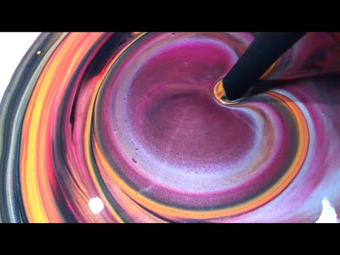 Fluid Painting Acrylic Pouring! FUNNEL SEEPING? Wigglz Art Really Easy Beginners Pour!!