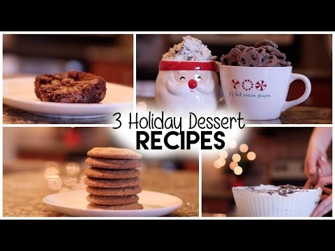 3 Holiday Dessert Recipes | CHEESECAKE DIP + BROWNIES + COOKIES