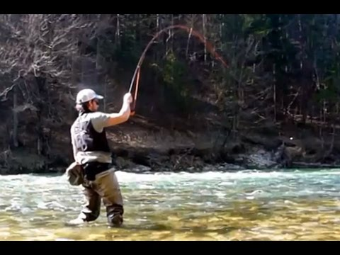 Spring time flyfishing at the Steyr river in Austria