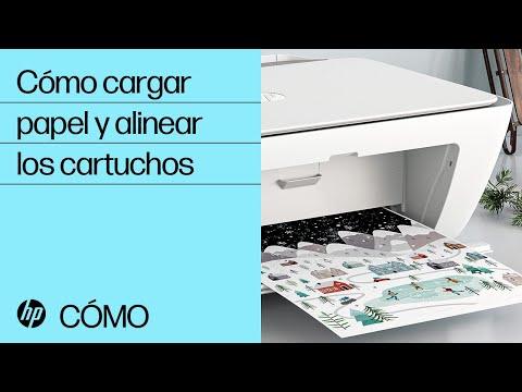 Cómo cargar papel y alinear los cartuchos en las impresoras de las series HP DeskJet 2700 y DeskJet Plus 4100