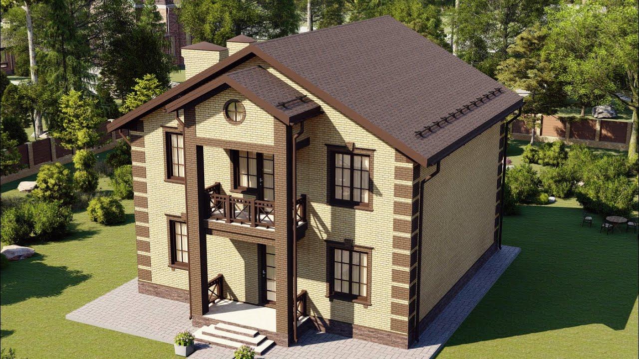 Проект дома 166-A, Площадь дома: 166 м2, Размер дома:  10,5x10,5 м