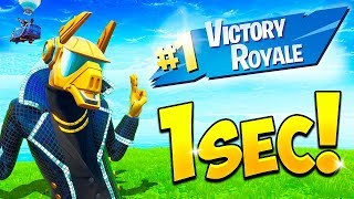 *WORLD RECORD* 1 SECOND WIN!! – BCC Fortnite Funny Moments #654