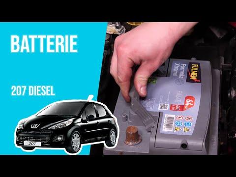 Changer la Batterie PEUGEOT 207 1.4 HDI 🔋