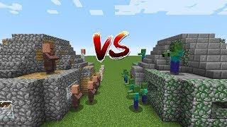 Minecraft Battle: HOUSE VILLAGER VS HOUSE ZOMBIE