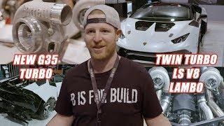 """New G35 turbo and """"B is for Build"""" twin-turbo LS Lambo - Garrett at SEMA 2019"""
