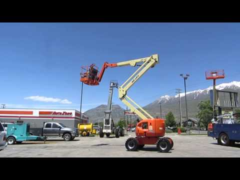 Manlift Articulating Boom Lift Aerial 2006 JLG 45' Reach 4x4 On-Board 120 VAC Generator $28,800 Mp3