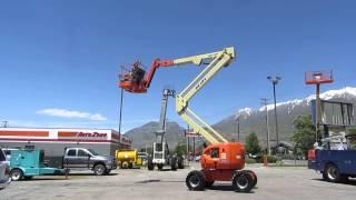 Manlift Articulating Boom Lift Aerial 2006 JLG 45' Reach 4x4 On-Board 120 VAC Generator $28,800