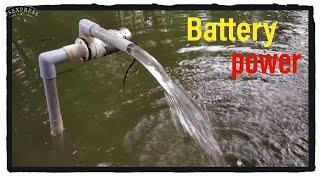 Battery power waterpump