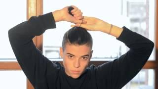 Mens Hair Tutorial  Man Bun Top Knot