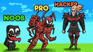 Minecraft - VENOM vs CARNAGE! (NOOB vs PRO vs HACKER)