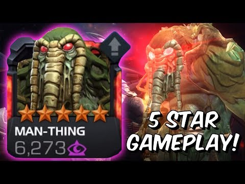 5 Star Man-Thing Rank Up &amp Gameplay! - Marvel Contest of Champions