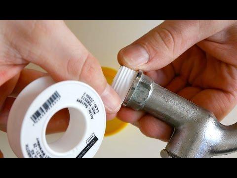Wasserleitung Richtig Abdichten mit Dichtband  Anleitung